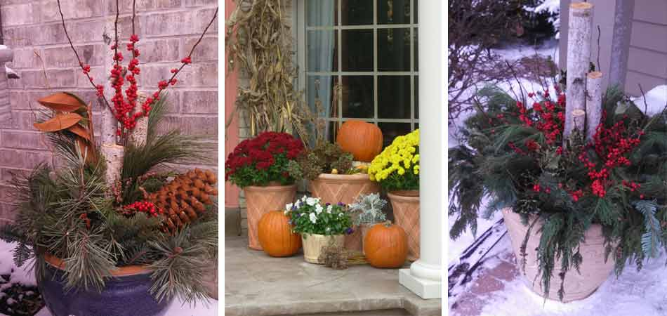 Beautiful Blooms Landscape & Design, LLC is known for the beautiful arrangements that they create for homeowners in and around Wauwatosa, WI for the holidays and fall harvest season.