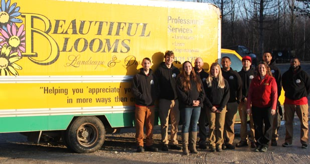 The full complement of the team at Beautiful Blooms Landscape & Design, LLC.